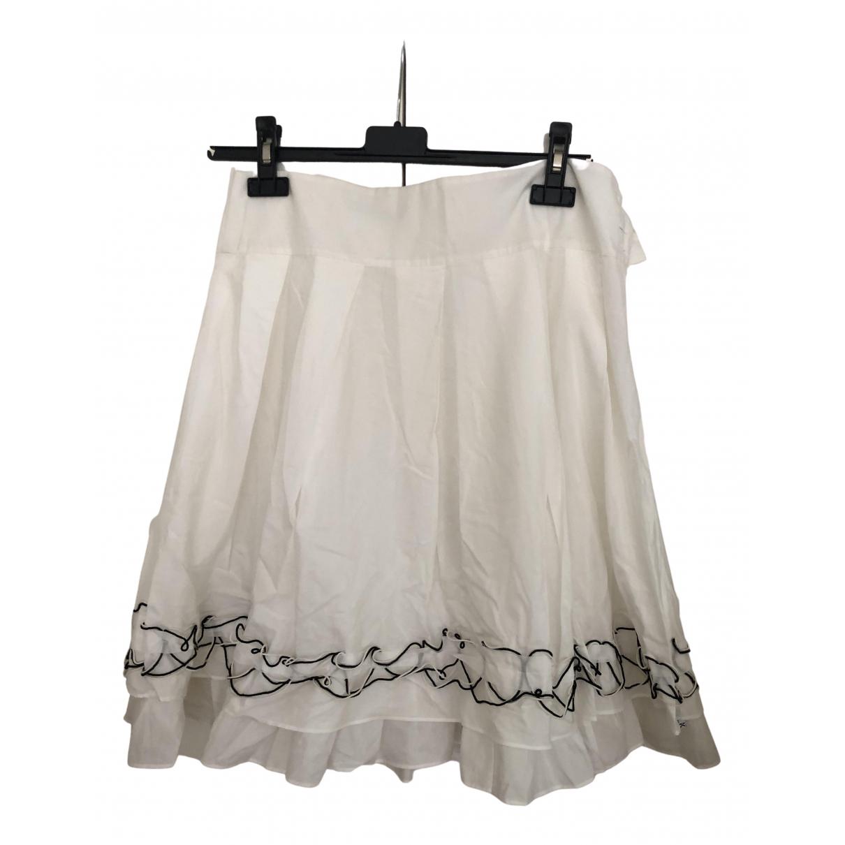Karl Lagerfeld - Jupe   pour femme en coton - blanc