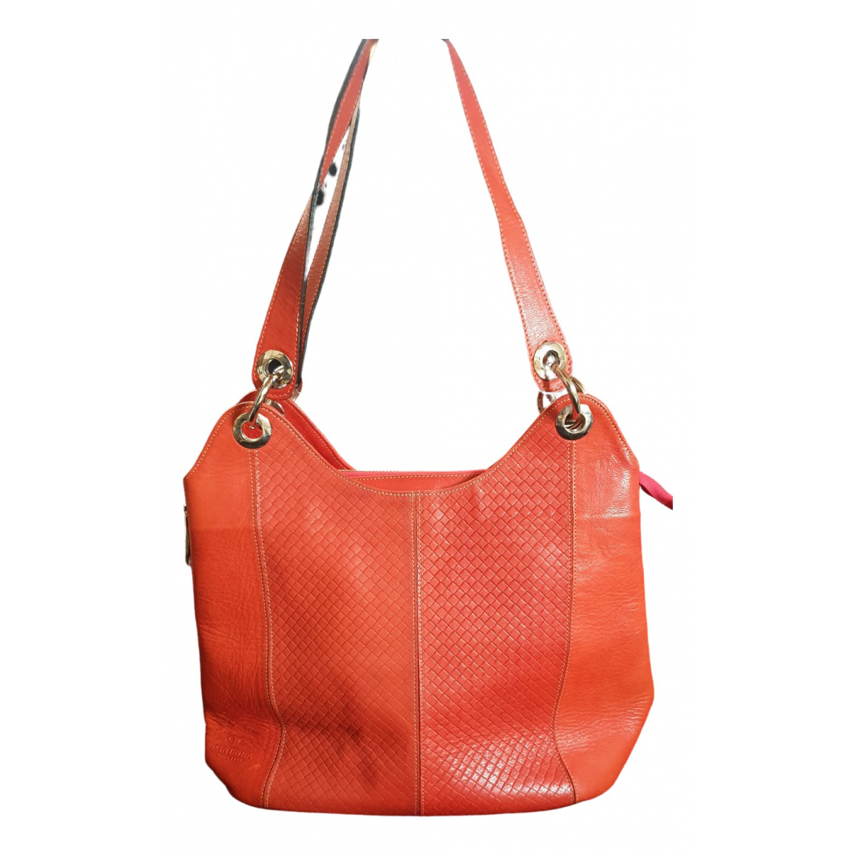 Pandora \N Handtasche in  Orange Leder