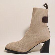 Stiefel mit quadratischer Zehenpartie