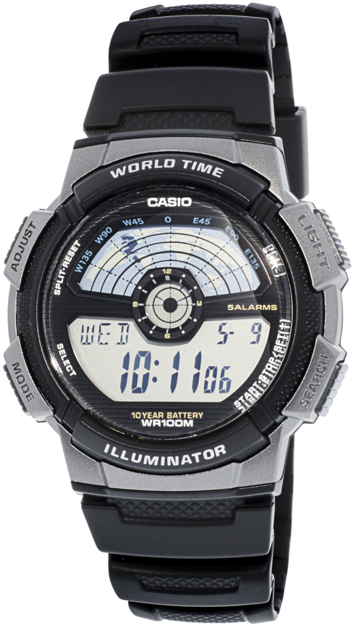 Casio Men's Core AE1100W-1AV Black Resin Japanese Quartz Sport Watch