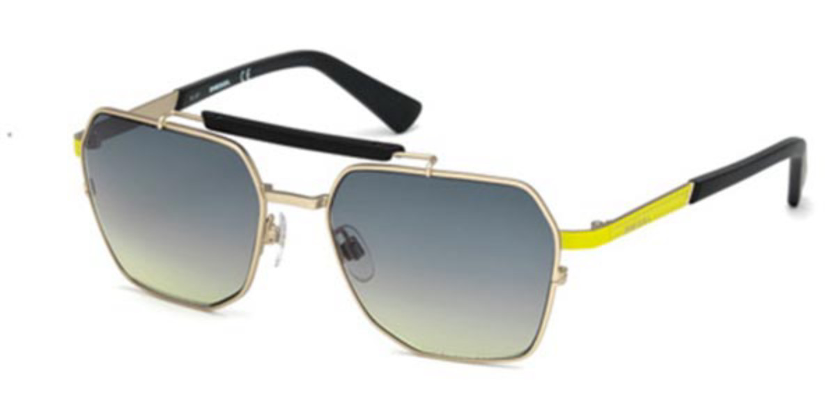 Diesel DL0256 32B Men's Sunglasses Gold Size 56