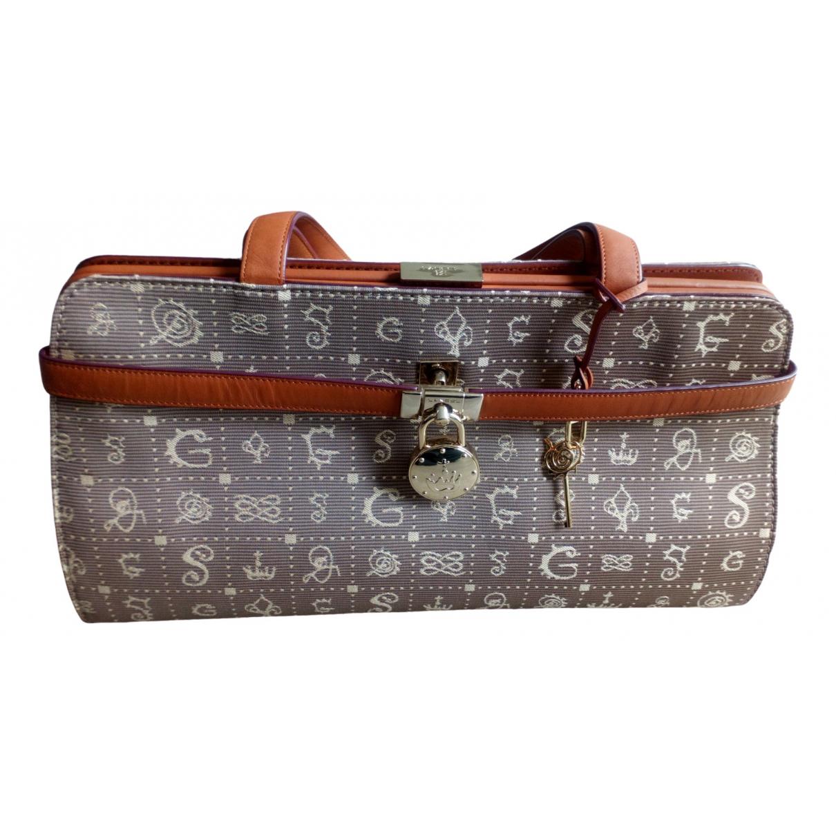 Lancel Daligramme Handtasche in  Beige Leinen