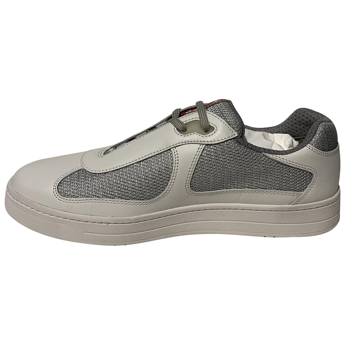 Prada \N White Leather Trainers for Men 6.5 US