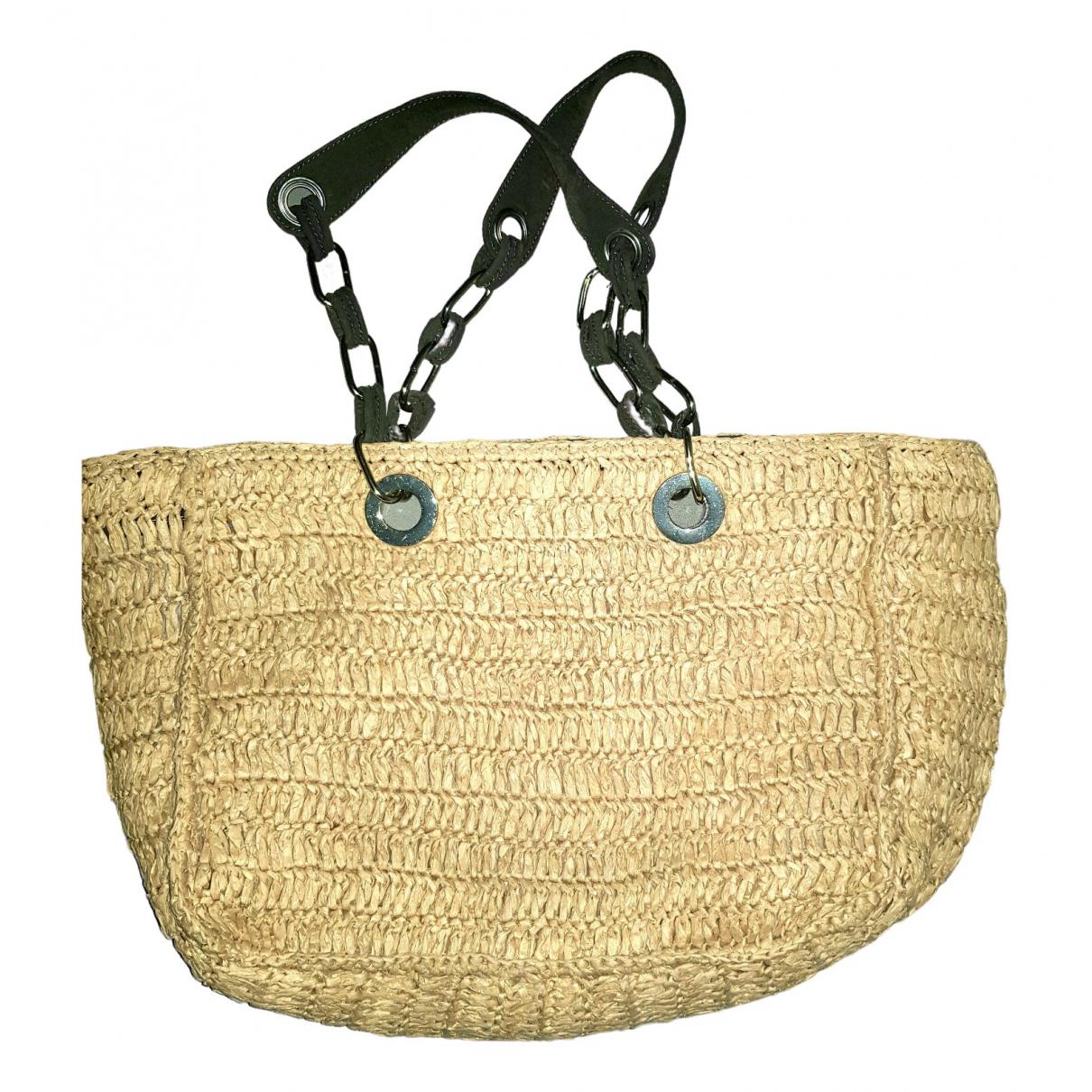 Uterque \N Handtasche in  Beige Stroh