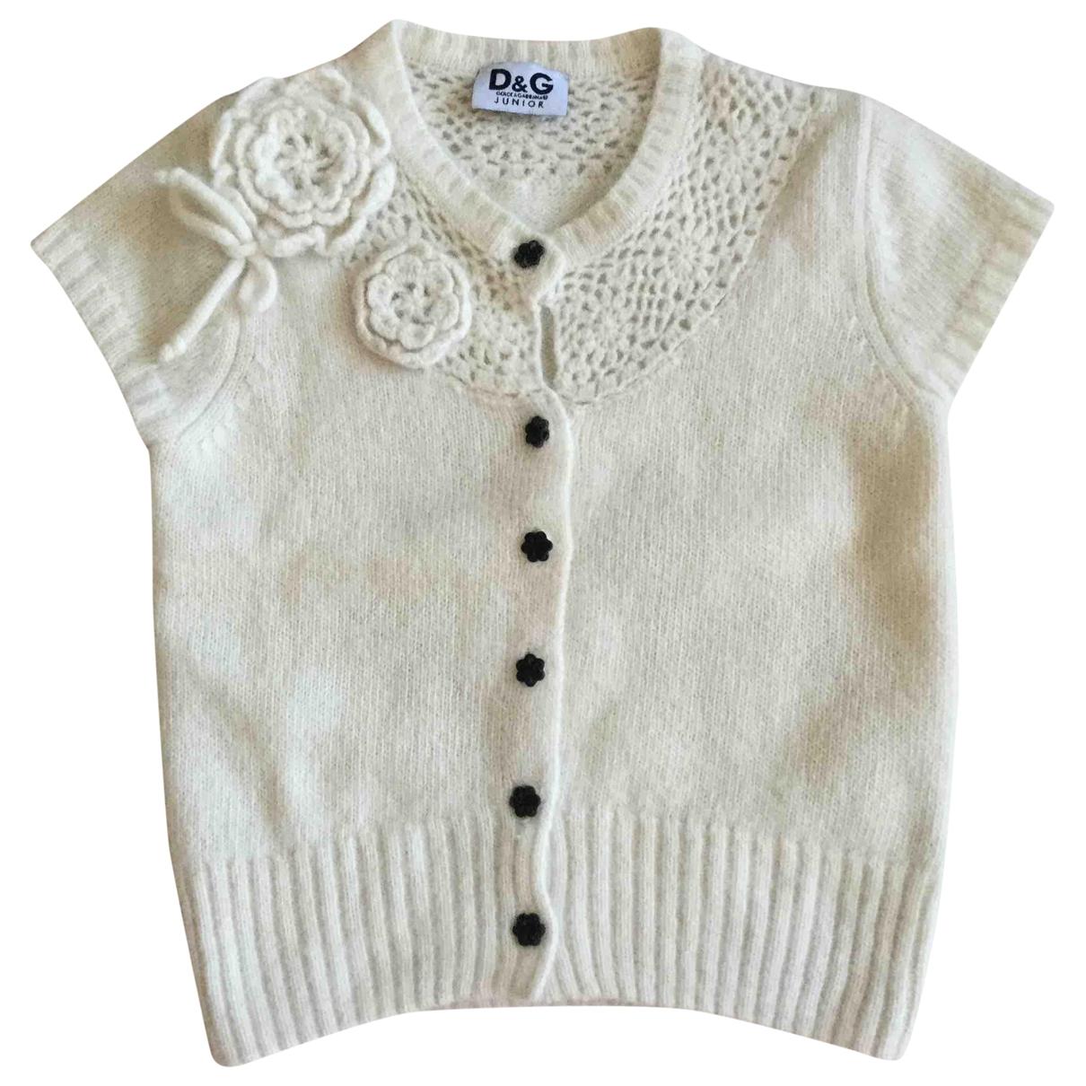D&g - Pull   pour enfant en laine - blanc