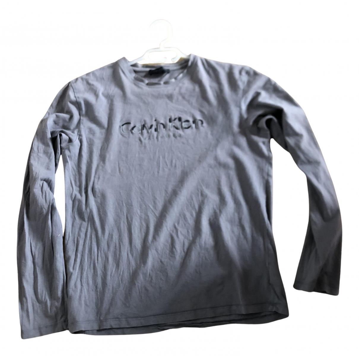 Calvin Klein - Tee shirts   pour homme en coton - gris