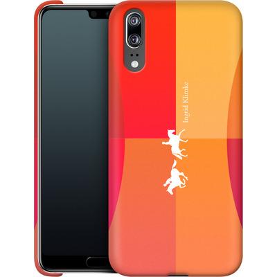 Huawei P20 Smartphone Huelle - Geometric Silhouette von Ingrid Klimke
