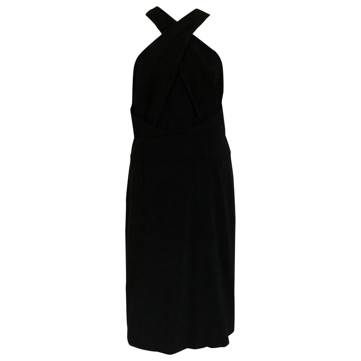 Issa \N Kleid in  Schwarz Viskose