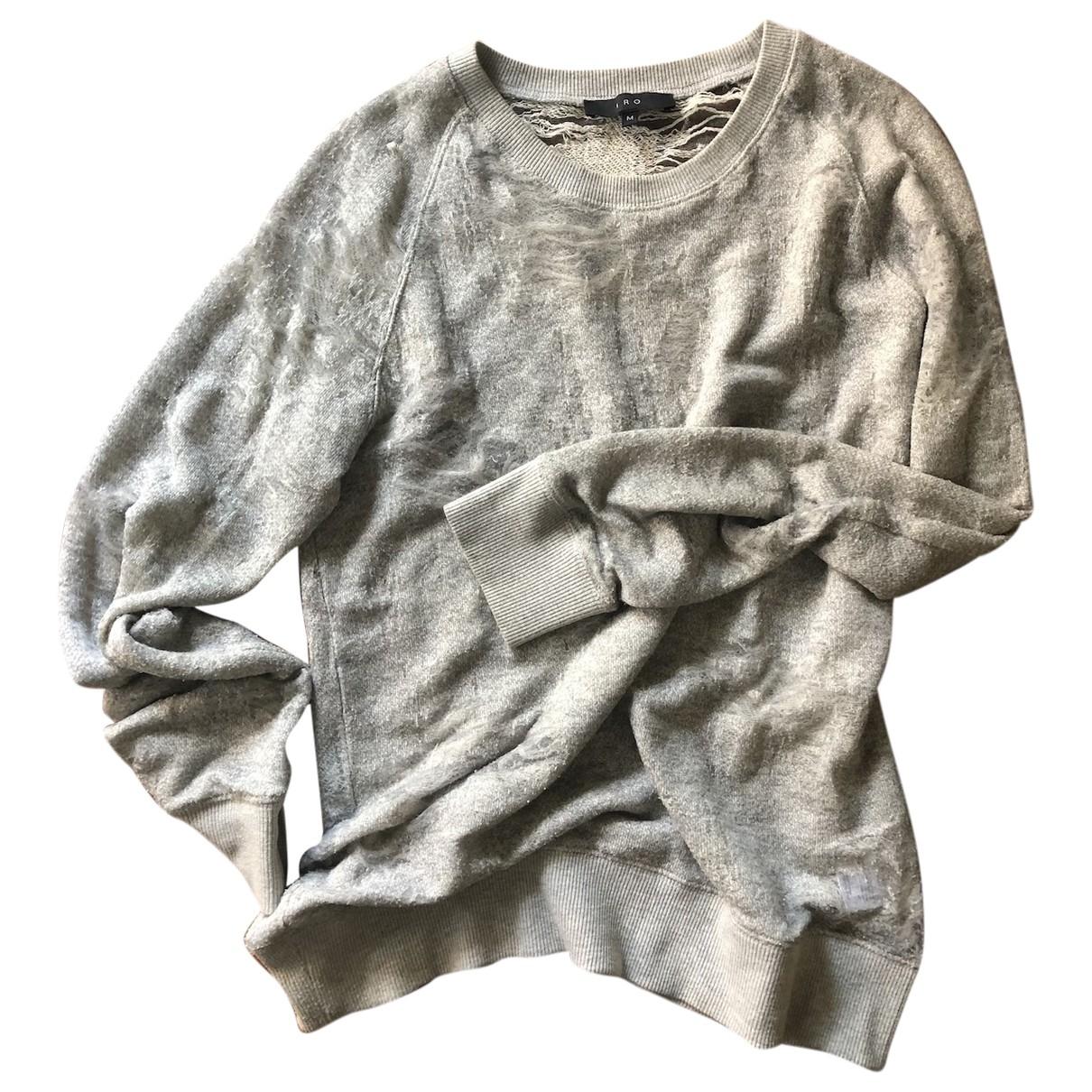 Iro \N Pullover.Westen.Sweatshirts  in  Grau Baumwolle