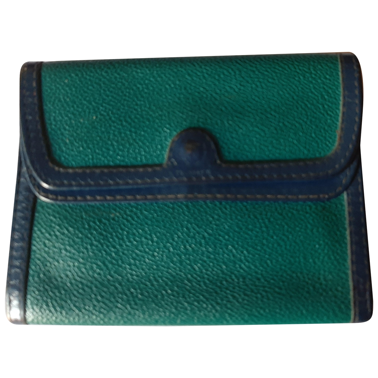 Trussardi \N Turquoise Cloth wallet for Women \N