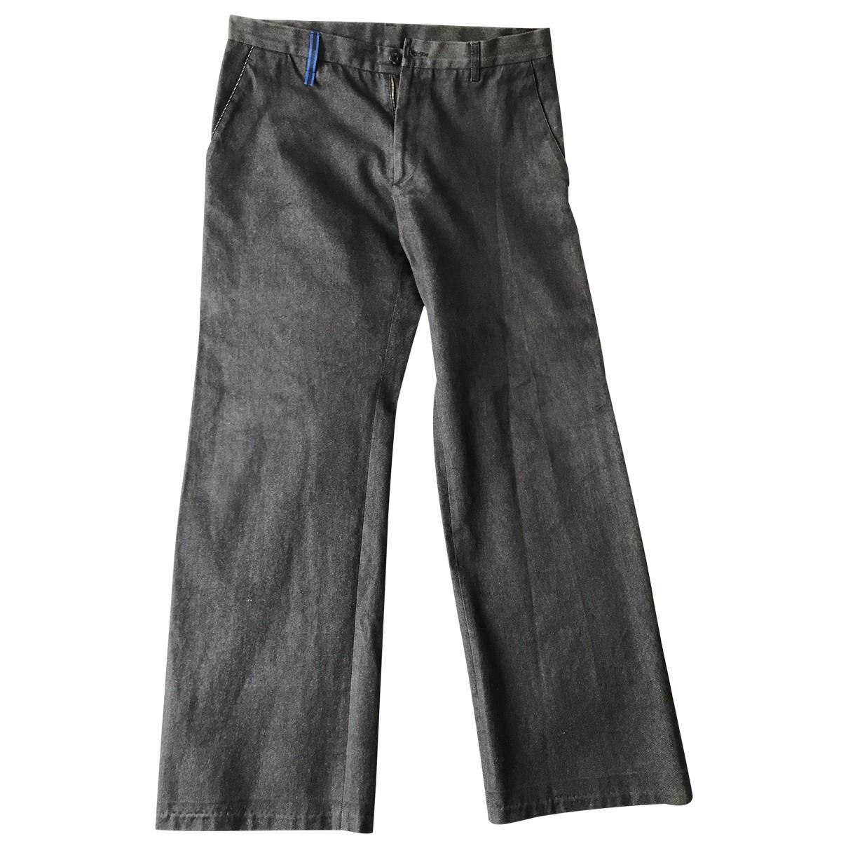 Miu Miu \N Grey Cotton Trousers for Men 52 IT