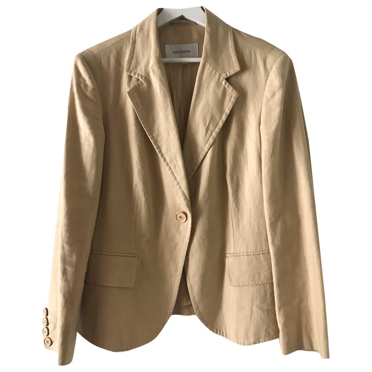 - Veste Oversize pour femme en lin - beige
