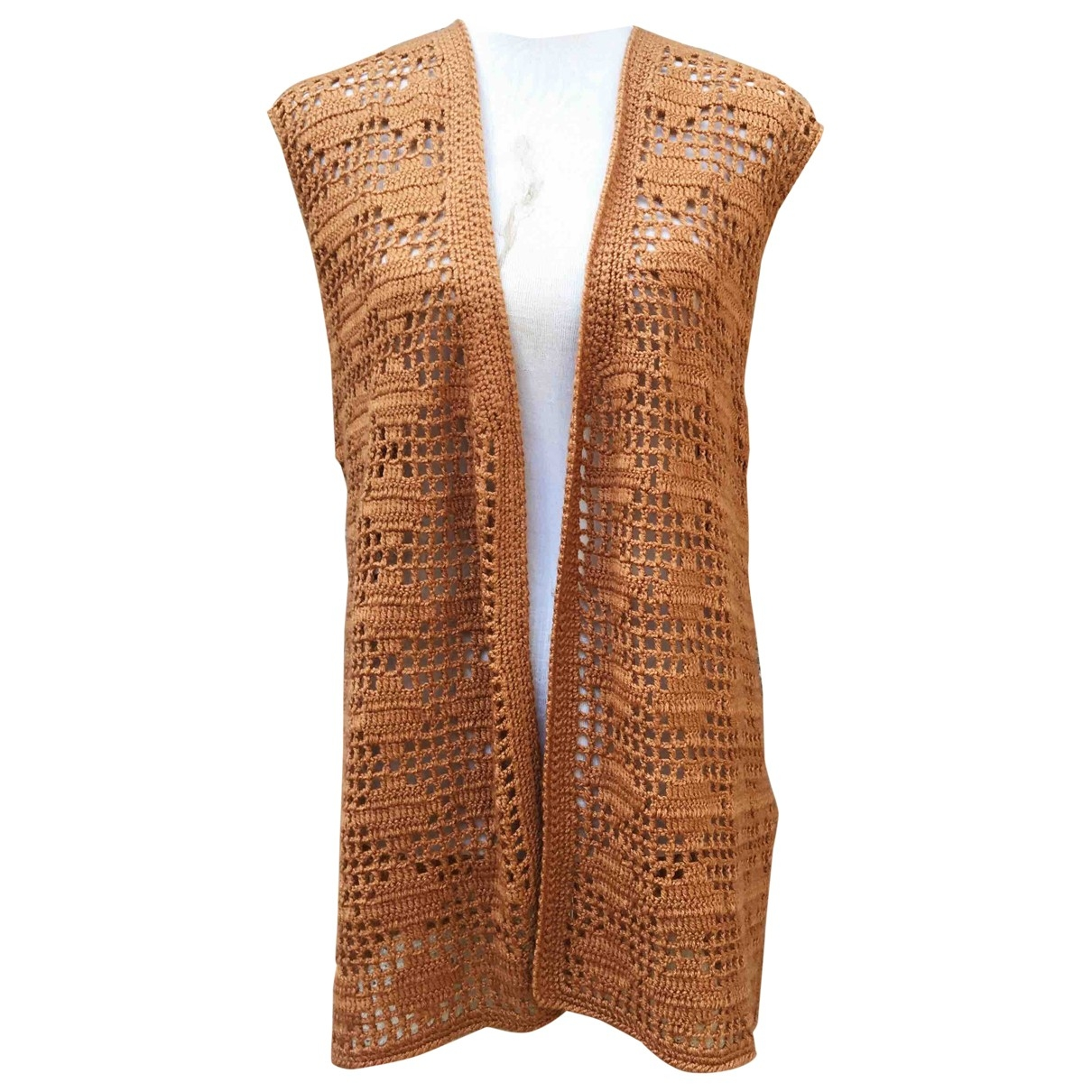 Non Signe / Unsigned Hippie Chic Top in  Braun Wolle