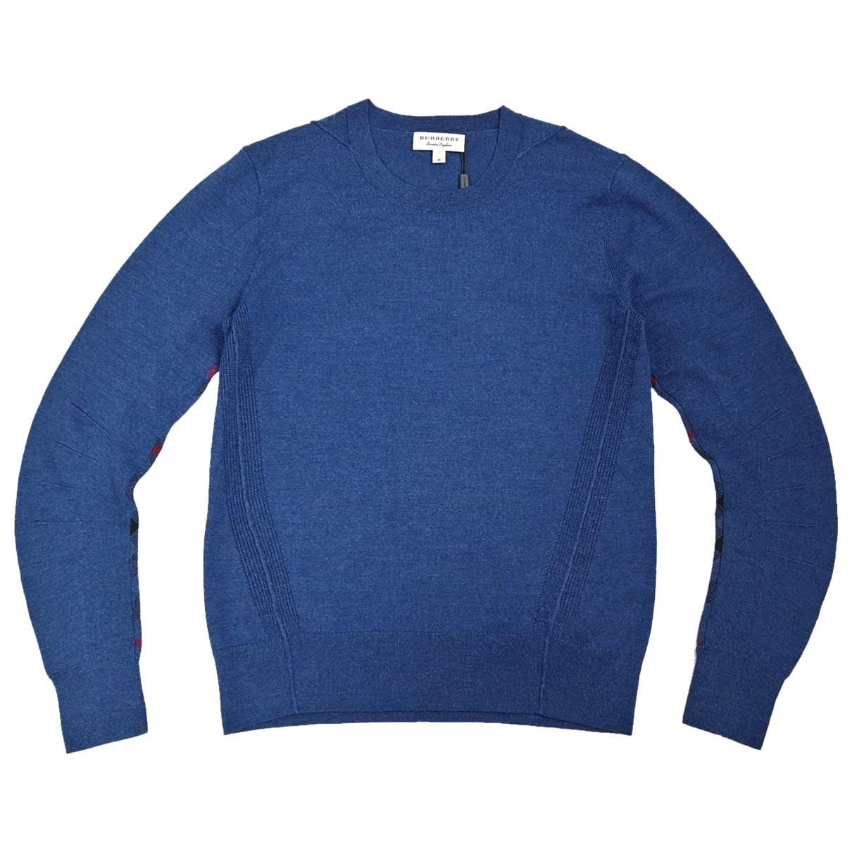 Burberry - Pulls.Gilets.Sweats   pour homme en laine - bleu