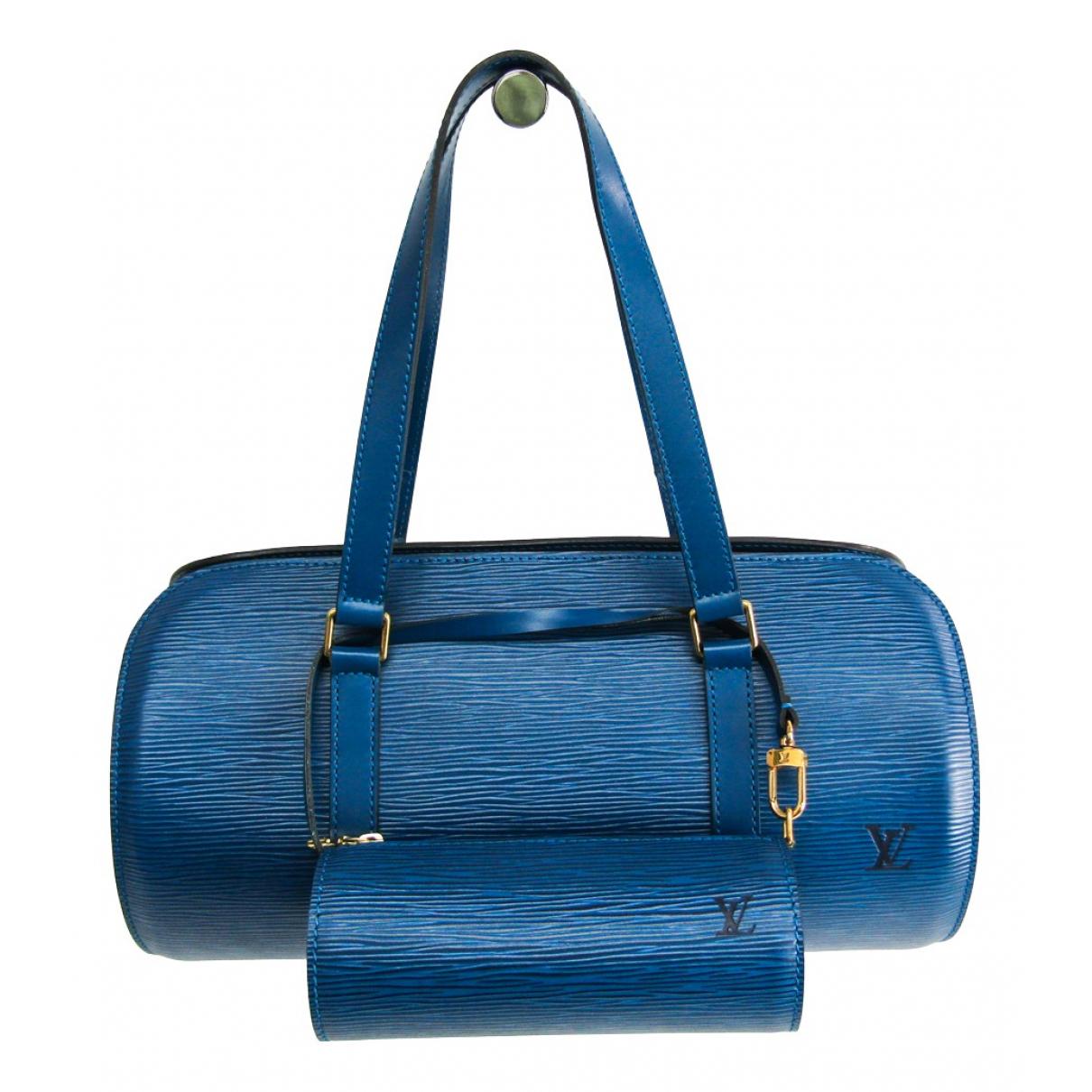 Louis Vuitton - Sac a main Papillon pour femme en cuir - bleu