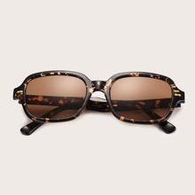 Tortoiseshell Frame Sunglasses With Case