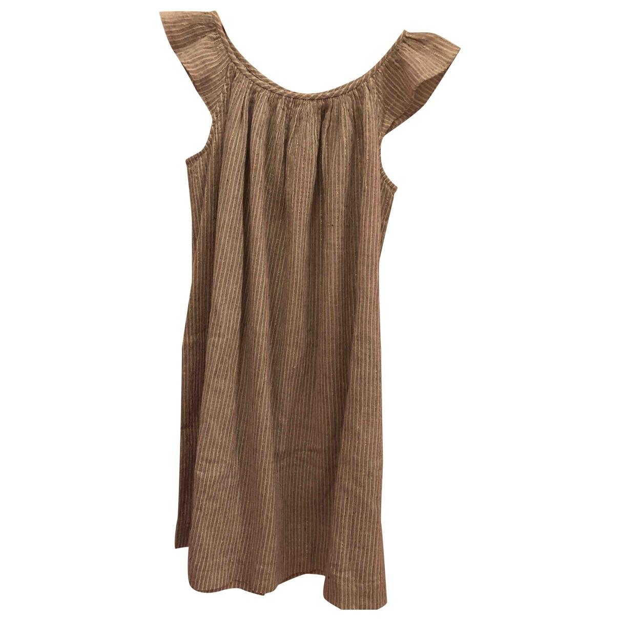 Bonpoint - Robe    pour enfant en coton - beige
