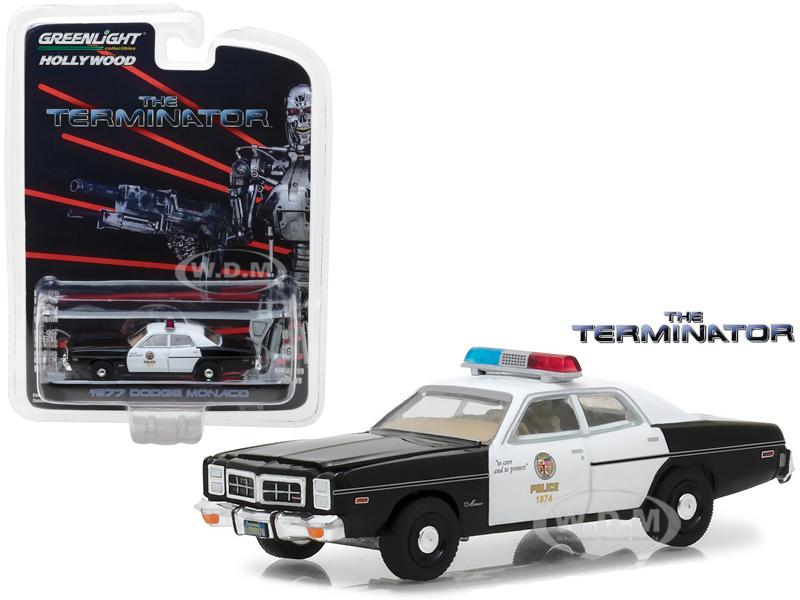1977 Dodge Monaco The Terminator Movie (1984) Hollywood Series 19 1/64 Diecast Model Car by Greenlight