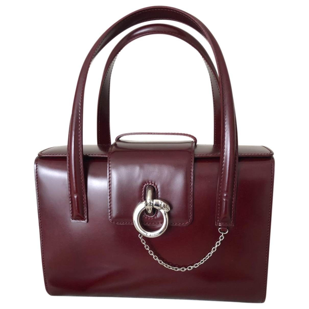 Cartier Panthère Burgundy Patent leather handbag for Women \N