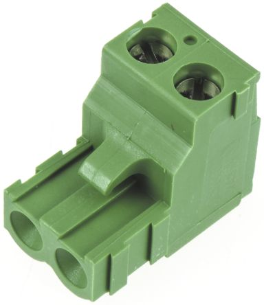TE Connectivity , Buchanan 5.08mm Pitch, 3 Way Pluggable Terminal Block, Green (5)