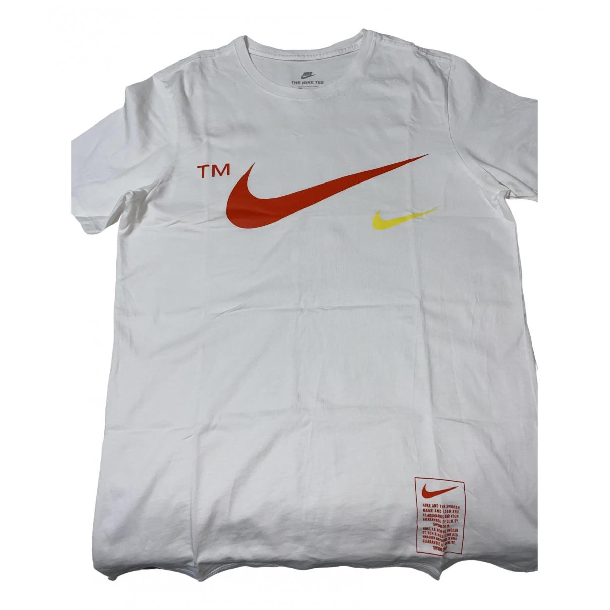 Nike - Tee shirts   pour homme en coton - blanc