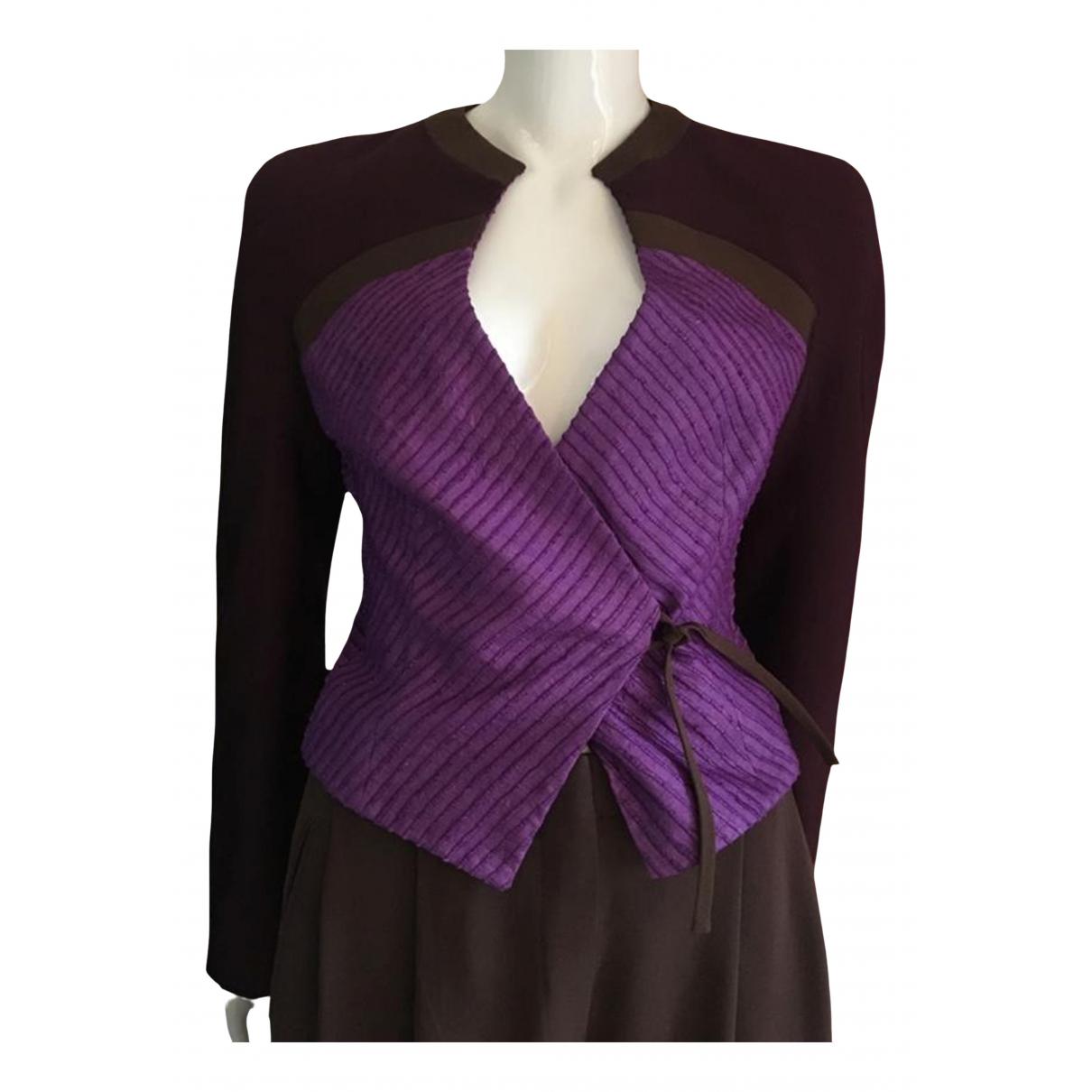 Giorgio Armani - Veste   pour femme en soie - violet