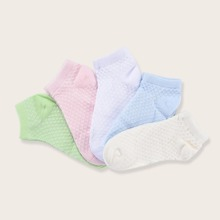 5 pares calcetines de niñitas con patron geometrico