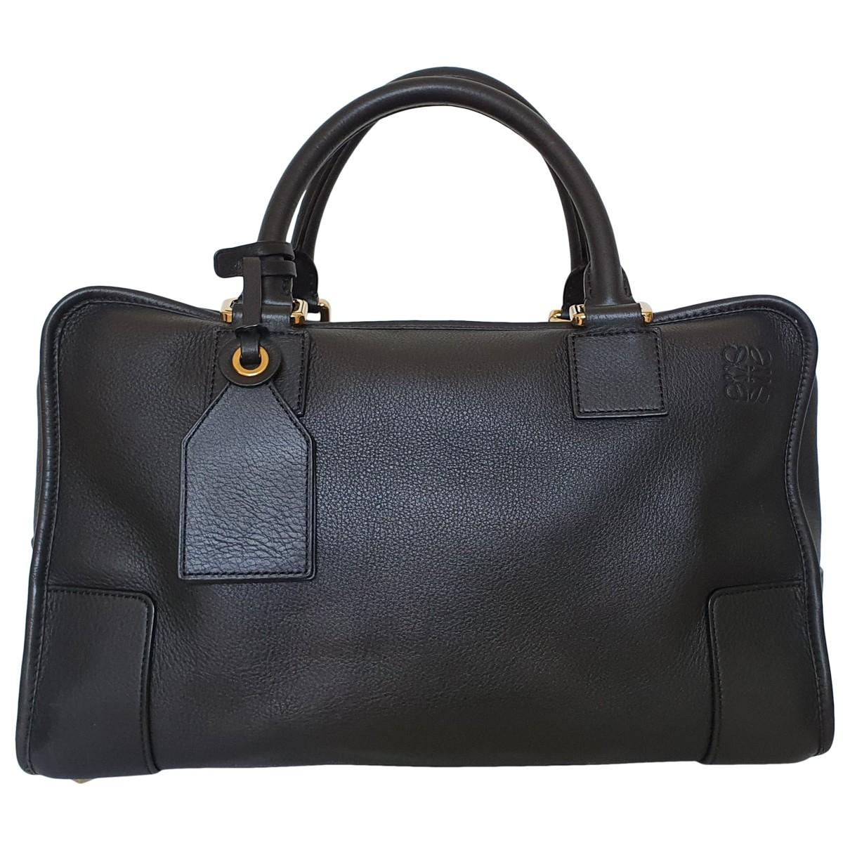 Loewe Amazona Black Leather handbag for Women \N