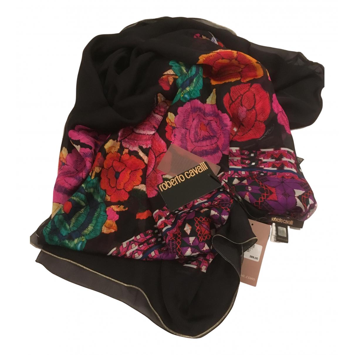 Roberto Cavalli - Carre   pour femme en soie - multicolore