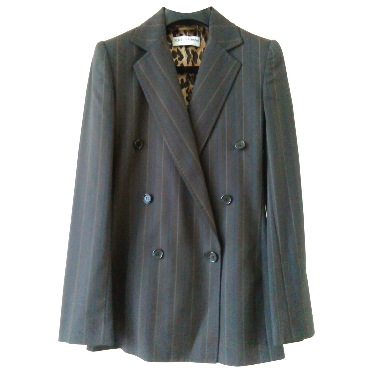 Dolce & Gabbana - Veste   pour femme en laine - anthracite