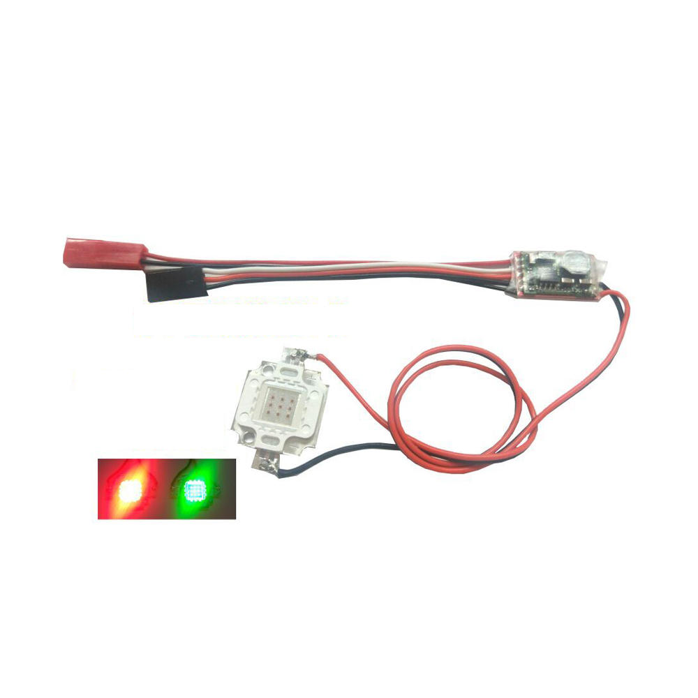 2-6S 10W Flash LED Night Light Strip Lamp Red Green DIY Spare Part For RC Airplane