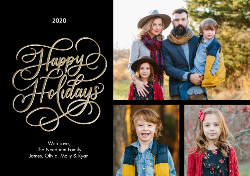Holiday Photo Cards 5x7 Cards, Premium Cardstock 120lb with Elegant Corners, Card & Stationery -2020 Holiday Rustic Script by Tumbalina