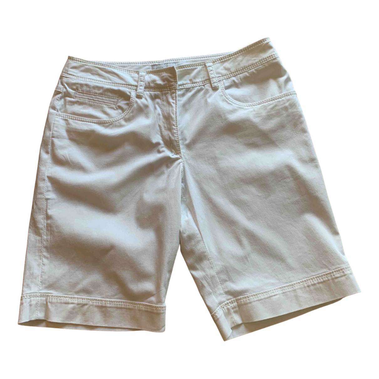 Moncler \N Shorts in  Weiss Baumwolle