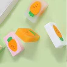 2pcs Carrot Pattern Random Eraser