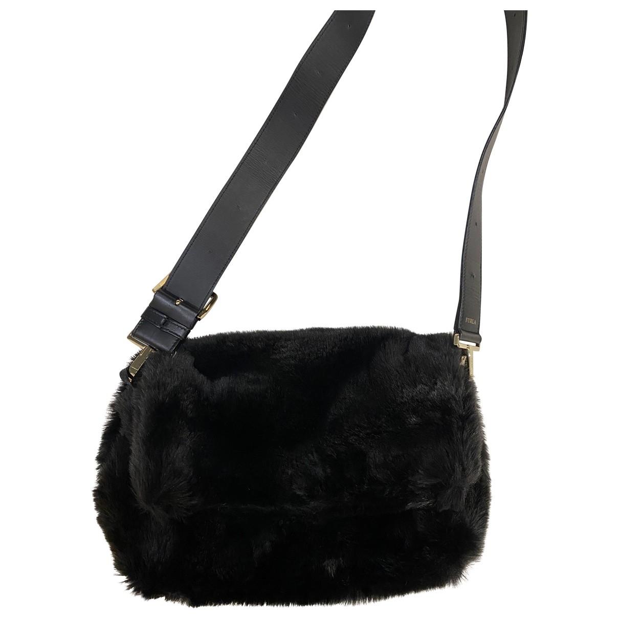 Furla \N Black Faux fur handbag for Women \N
