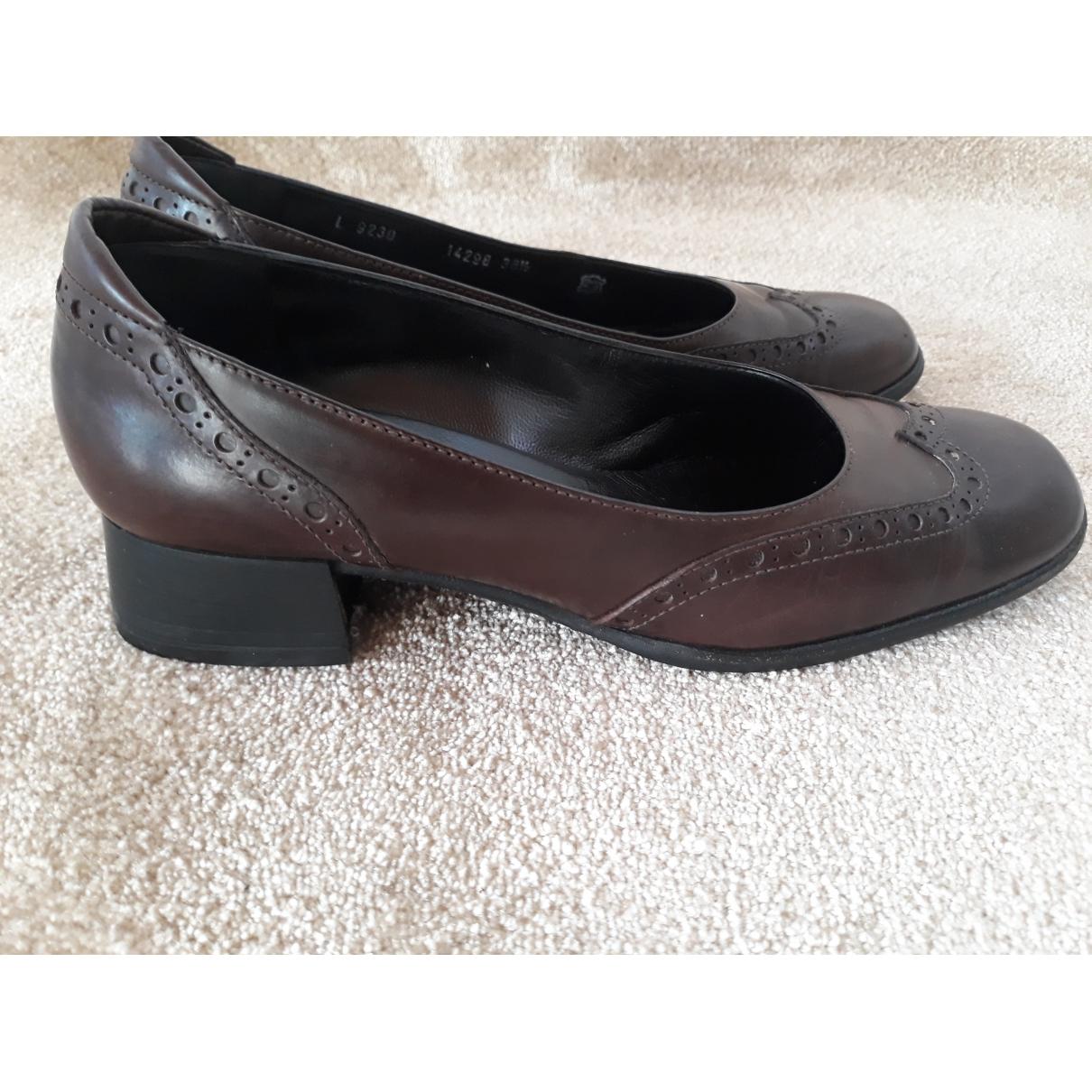 Bruno Magli - Boots   pour femme en cuir - marron