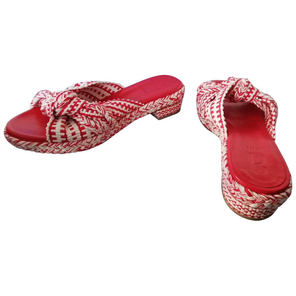Antolina Paris - Sandales   pour femme en toile - rouge