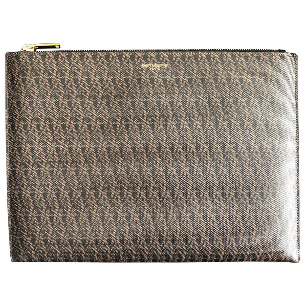 Saint Laurent \N Brown Cloth Clutch bag for Women \N