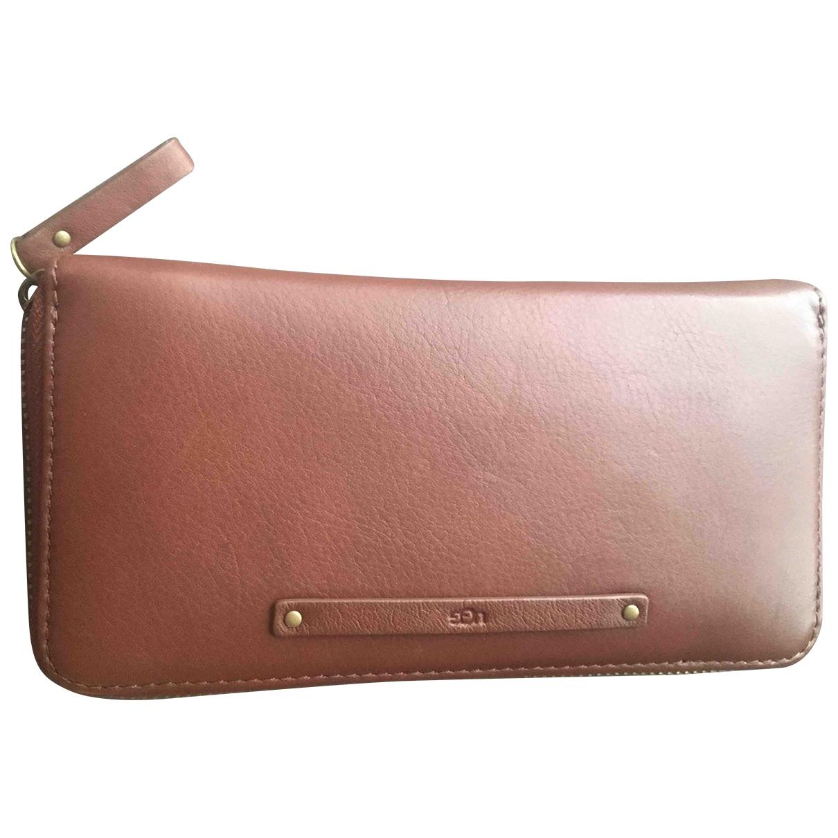 Ugg - Petite maroquinerie   pour femme en cuir - marron