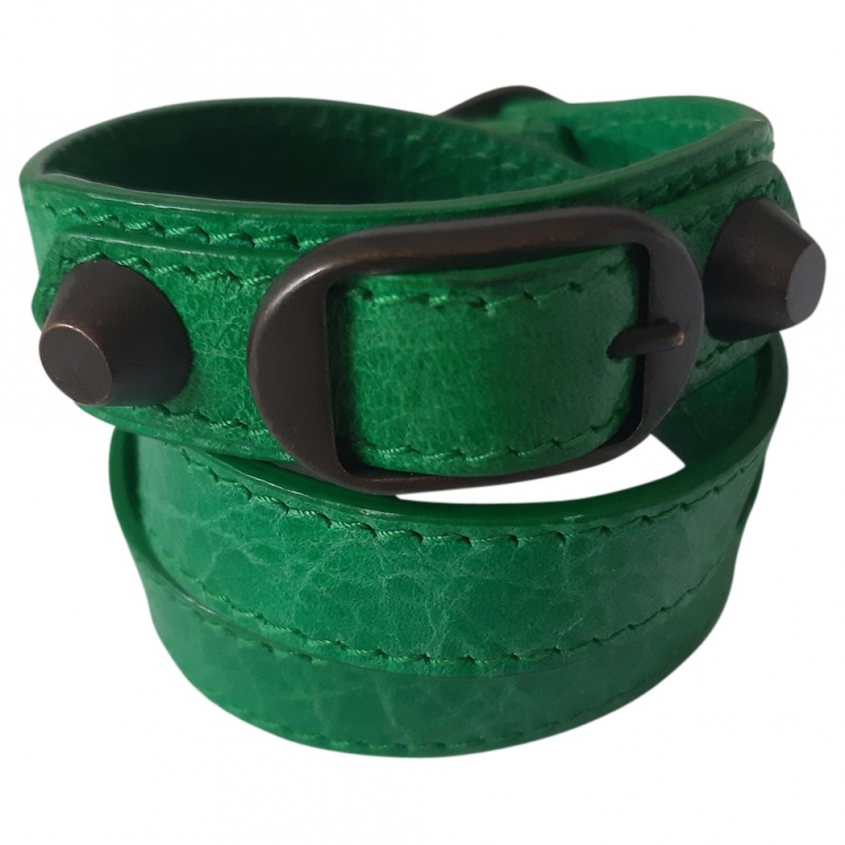 Balenciaga \N Green Leather bracelet for Women \N