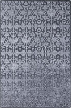 Tidal TDL-1046 6' x 9' Rectangle Traditional Rugs in Medium Gray