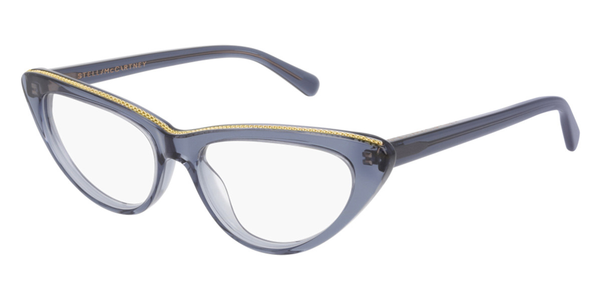 Stella McCartney SC0190O 009 Women's Glasses Blue Size 52 - Free Lenses - HSA/FSA Insurance - Blue Light Block Available