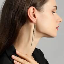 Lange Ohrringe mit Strass