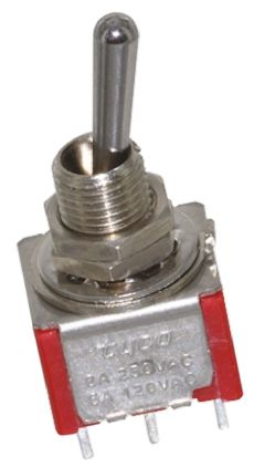 TE Connectivity DPDT Toggle Switch, On-Off-On, Panel Mount