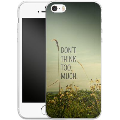 Apple iPhone 5s Silikon Handyhuelle - Travel Like A Bird Without Care von Joy StClaire