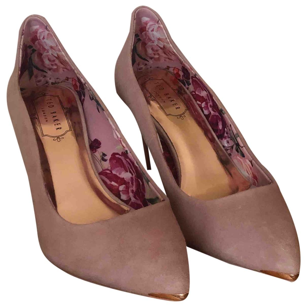 Ted Baker - Escarpins   pour femme en cuir - rose