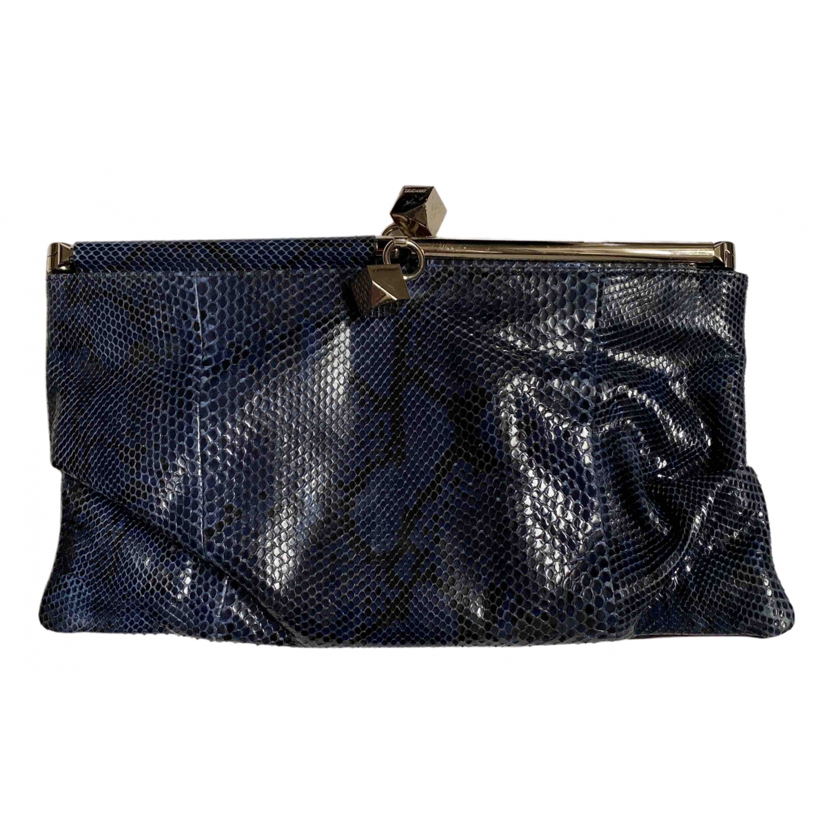 Jimmy Choo \N Clutch in  Metallic Wasserschlangen