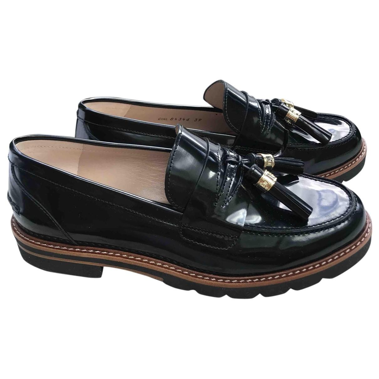 Stuart Weitzman \N Black Leather Flats for Women 39 EU
