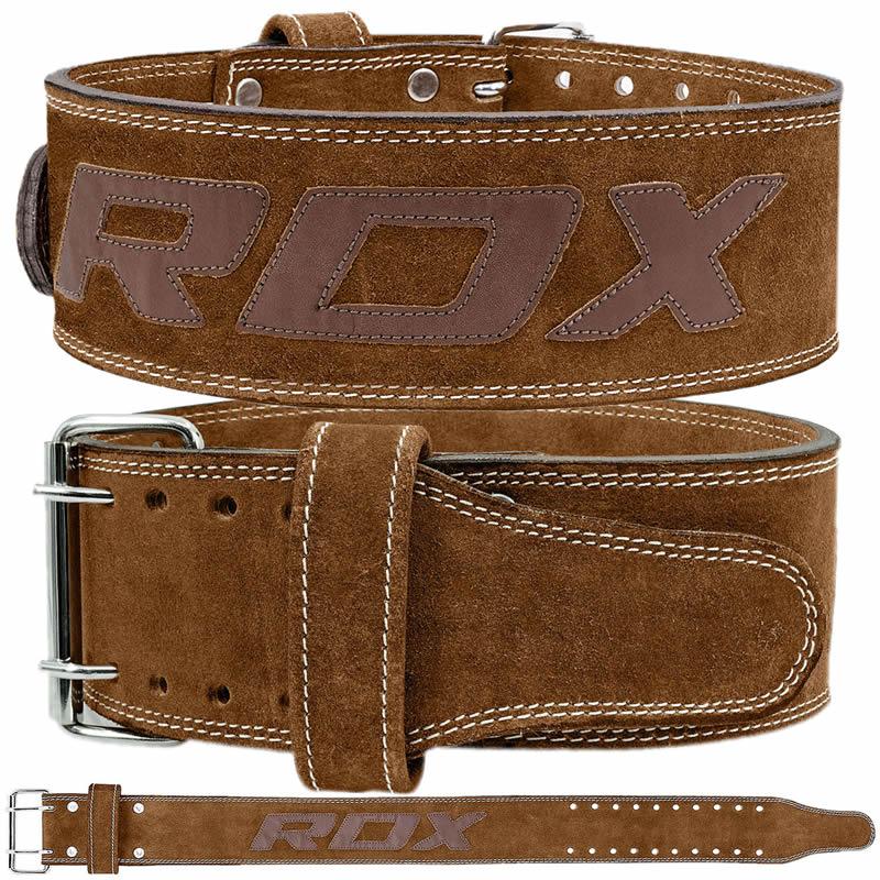 RDX 4PN Marron 10mm Ceinture de Musculation Moyenne marron Cuir