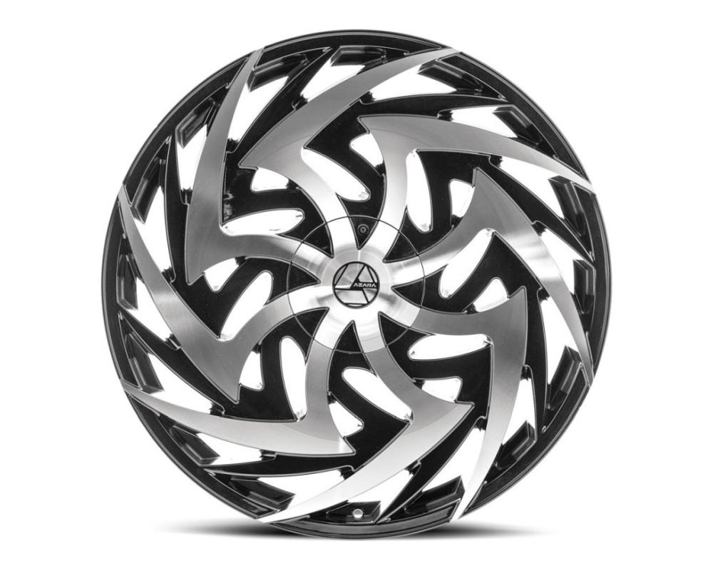Azara 520 Wheel 20x8.5 5x114.3 5x120 35mm Gloss Black Machined